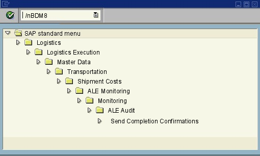 menu path of the SAP transaction BDM8