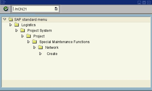 menu path of the SAP transaction CN21