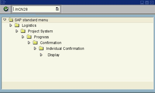 menu path of the SAP transaction CN28