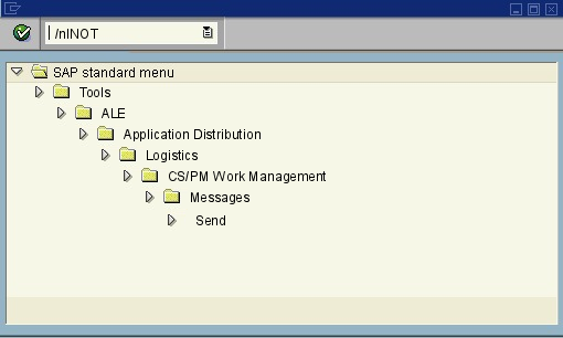 menu path of the SAP transaction INOT