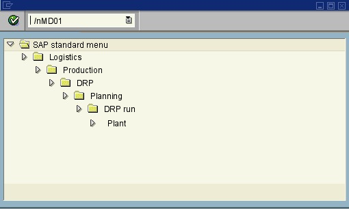 menu path of the SAP transaction MD01