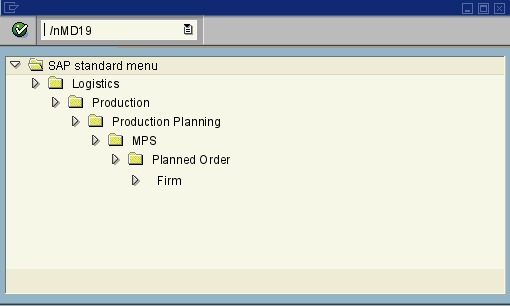 menu path of the SAP transaction MD19