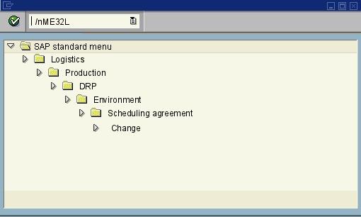 Me32l Change Scheduling Agreement Sap Transaction