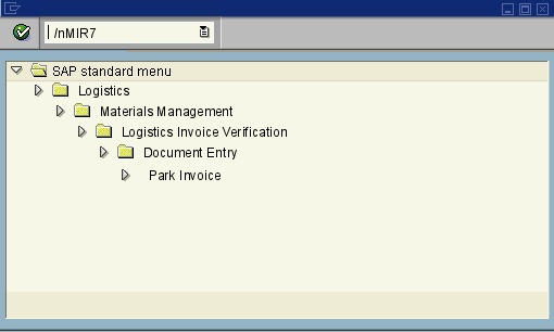 menu path of the SAP transaction MIR7