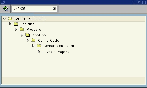 menu path of the SAP transaction PK07