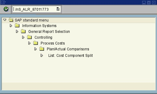 menu path of the SAP transaction S_ALR_87011773