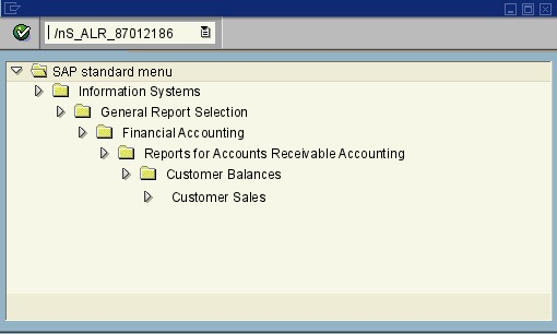 menu path of the SAP transaction S_ALR_87012186
