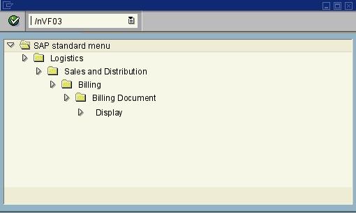 VF03 - Display Billing Document - SAP transaction