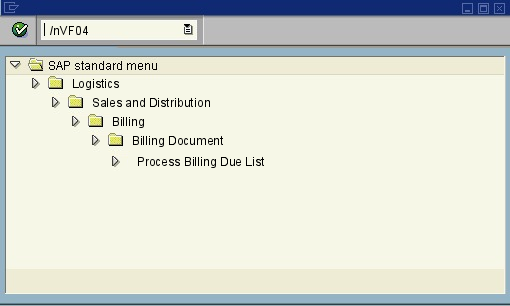 SAP transaction directory