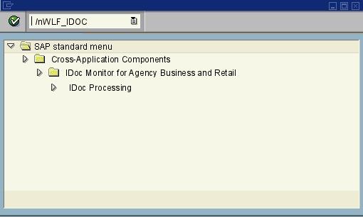 WLF_IDOC - IDoc Processing - SAP transaction